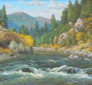 горная река 60х70 см